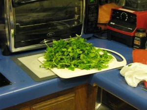 This amount of nettles cooks down to 1/4 - 1/2 cup.  You'll need a lot more for this recipe.
