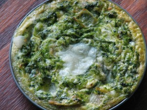 Crustless nettle quiche tartlet