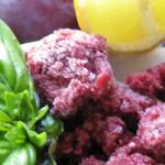 Basil plum granita 008